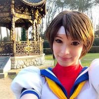 Sakura - Street Fighter cosplay selfie~ by EnjiNight