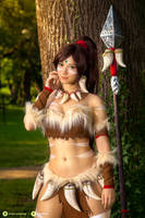 Nidalee - League of Legends cosplay II. by EnjiNight