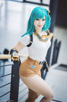 Bulma cosplay - Dragon Ball III. by EnjiNight