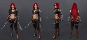 Katarina cosplay concept art- League of Legends I. by EnjiNight