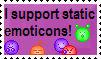 I support static emotes