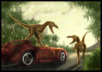 Velociraptors by o-six