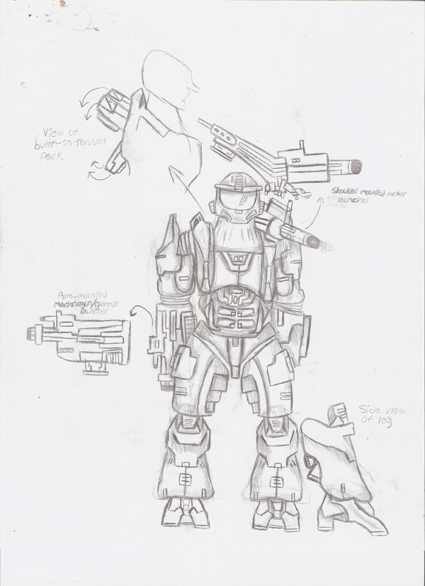Halo Legends Prototype Study By Gyaos2008 On Deviantart