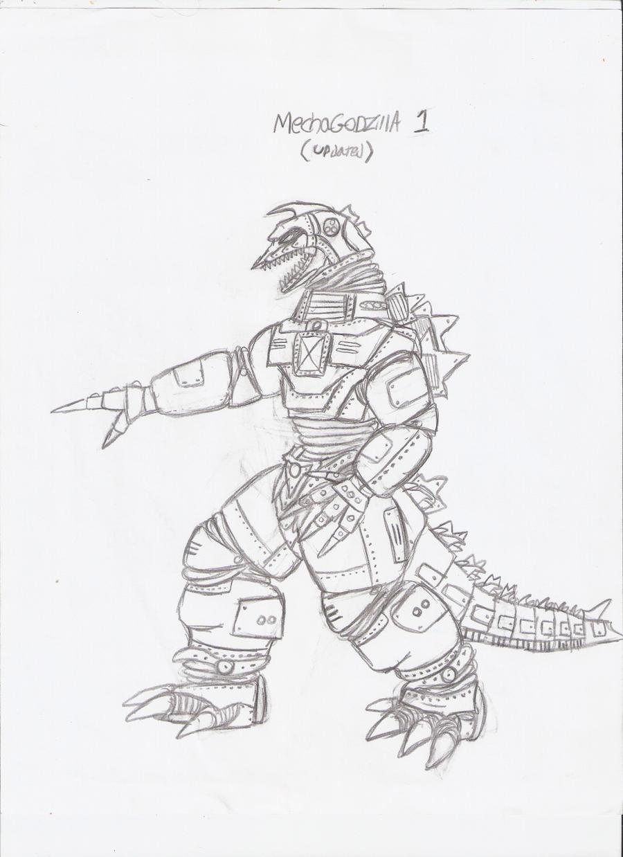 Godzilla Vs Mechagodzilla Coloring