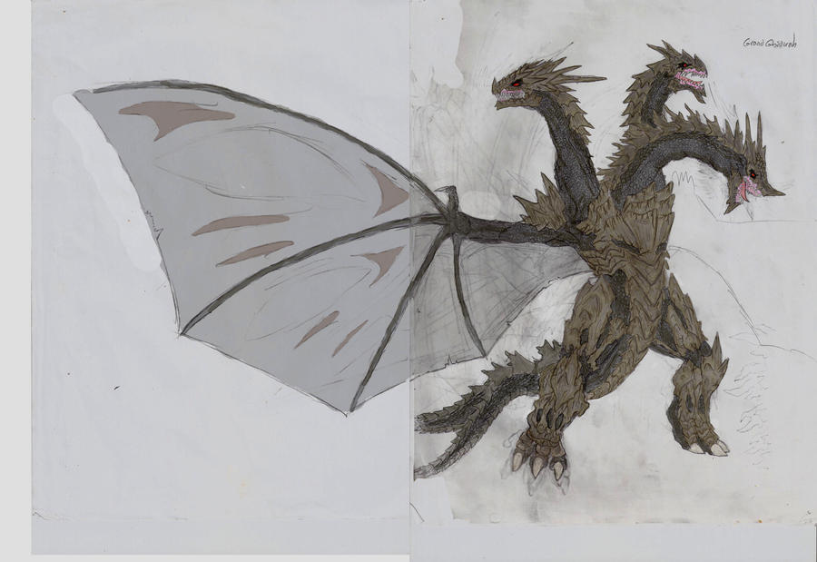 Godzilla US:GRAND GHIDORAH by Gyaos2008