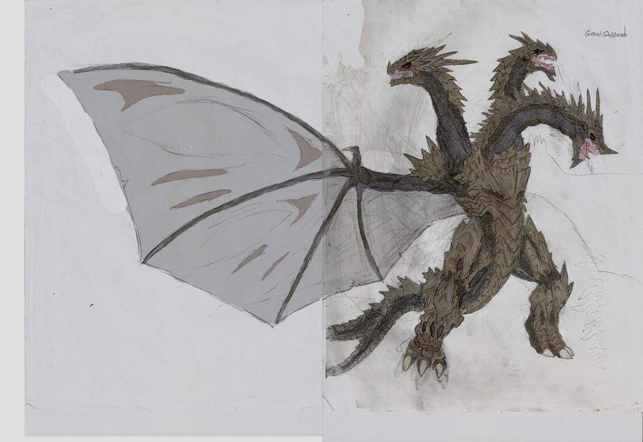 Godzilla US:GRAND GHIDORAH by Gyaos2008