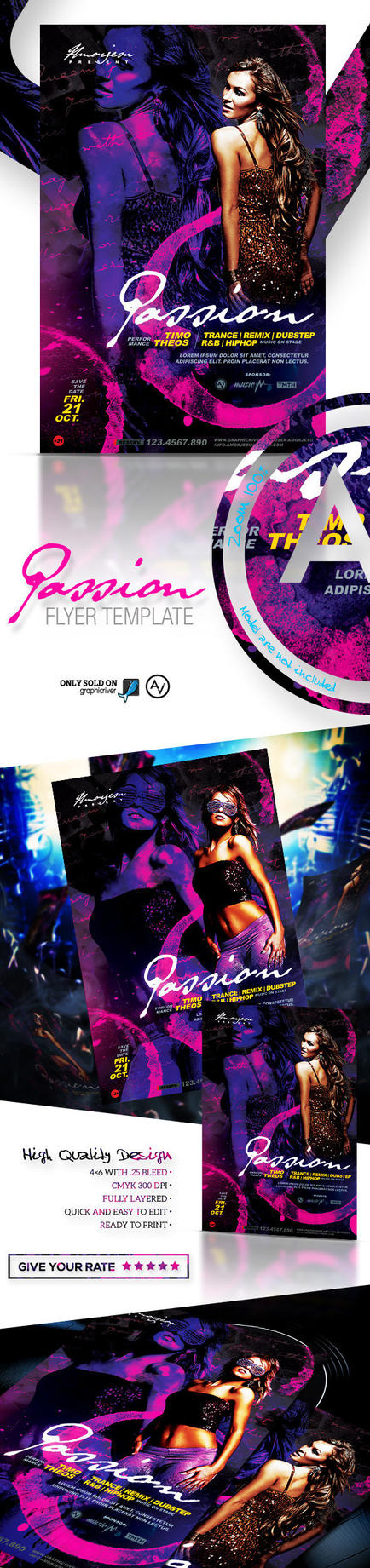 Passion Flyer Template by amorjesu