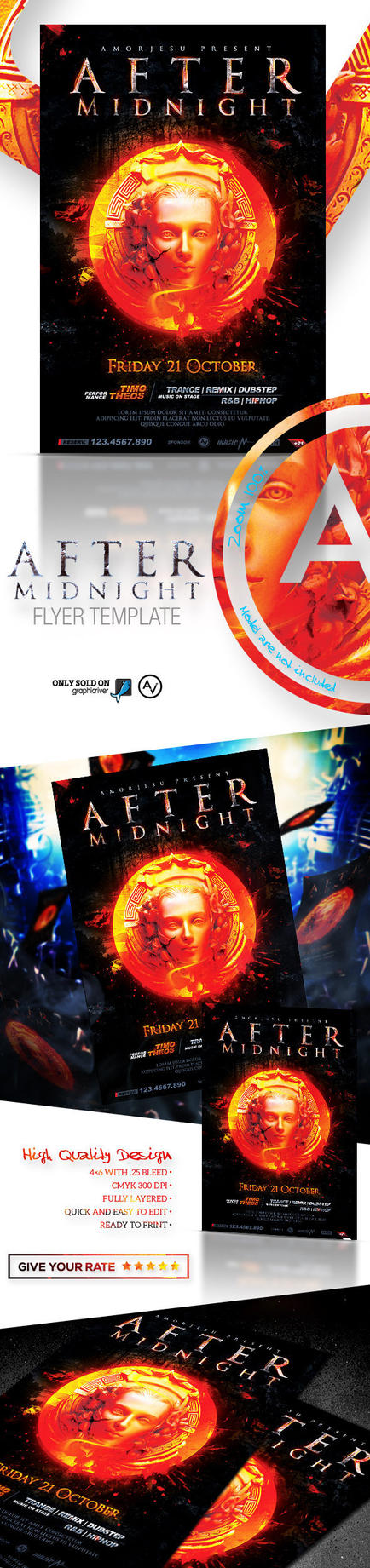 After Midnight Flyer Template by amorjesu