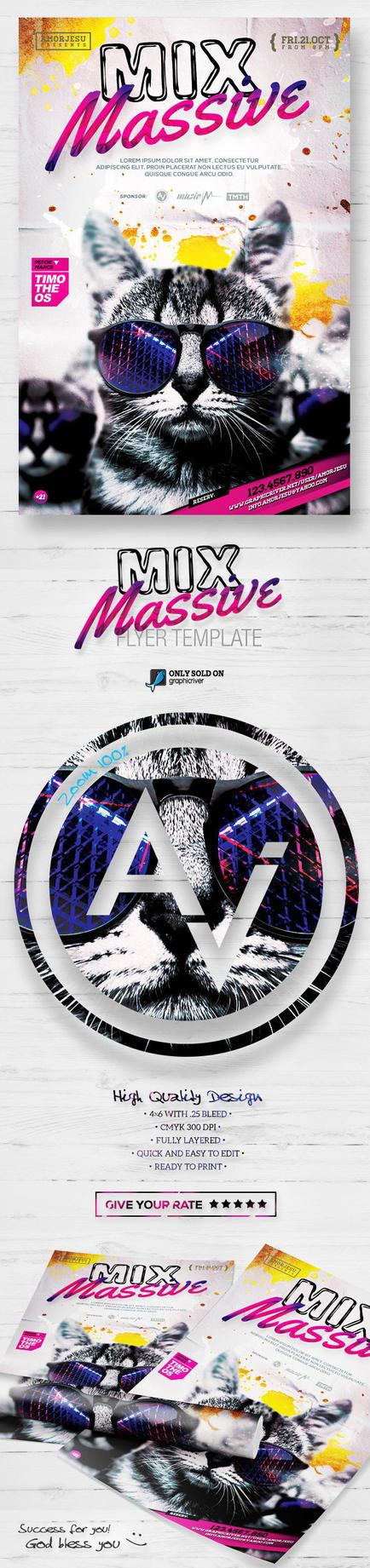 Mix Massive Flyer Template by amorjesu