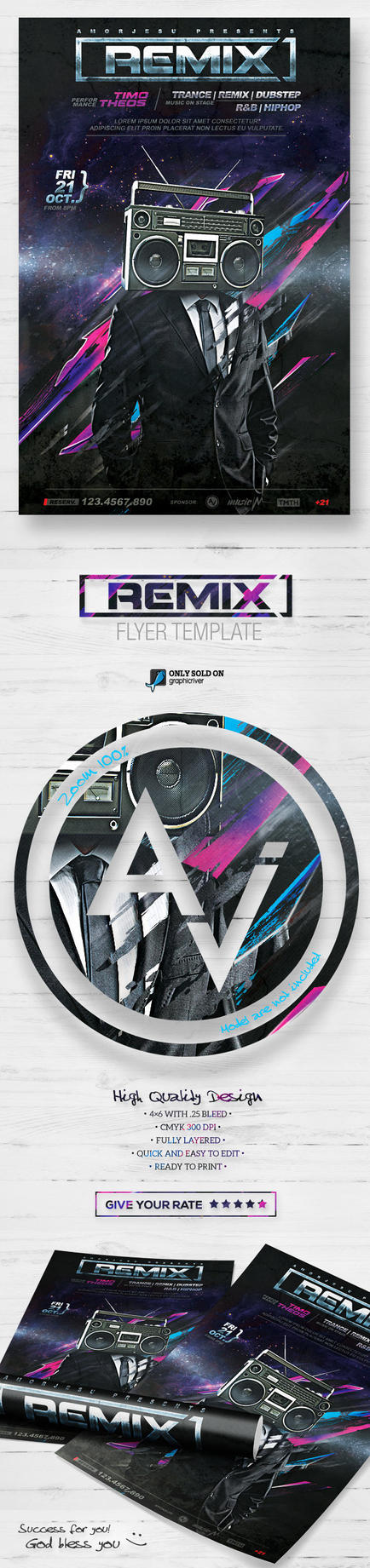 DJ Guest Flyer Template by amorjesu