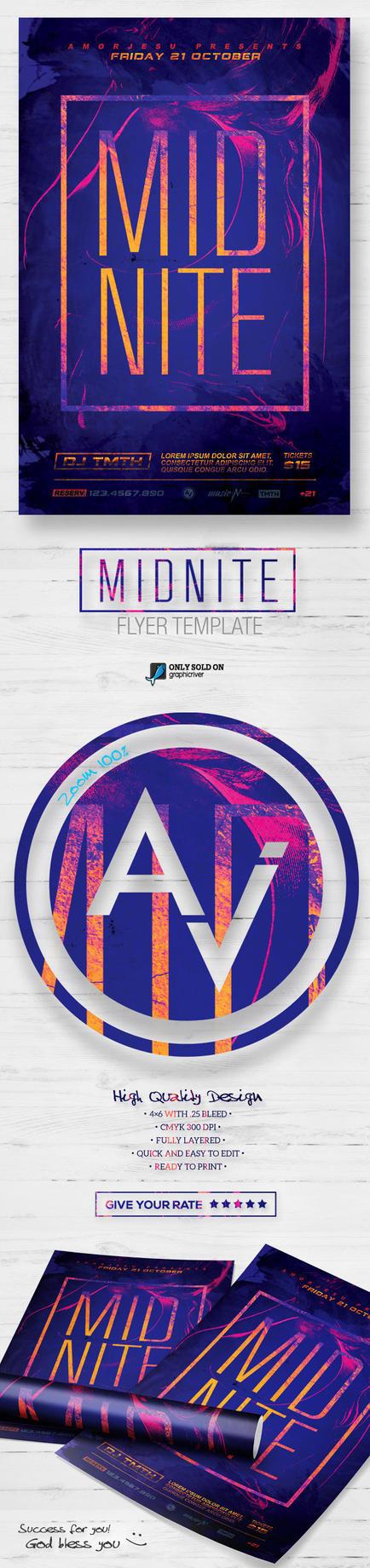 Midnite Flyer Template by amorjesu