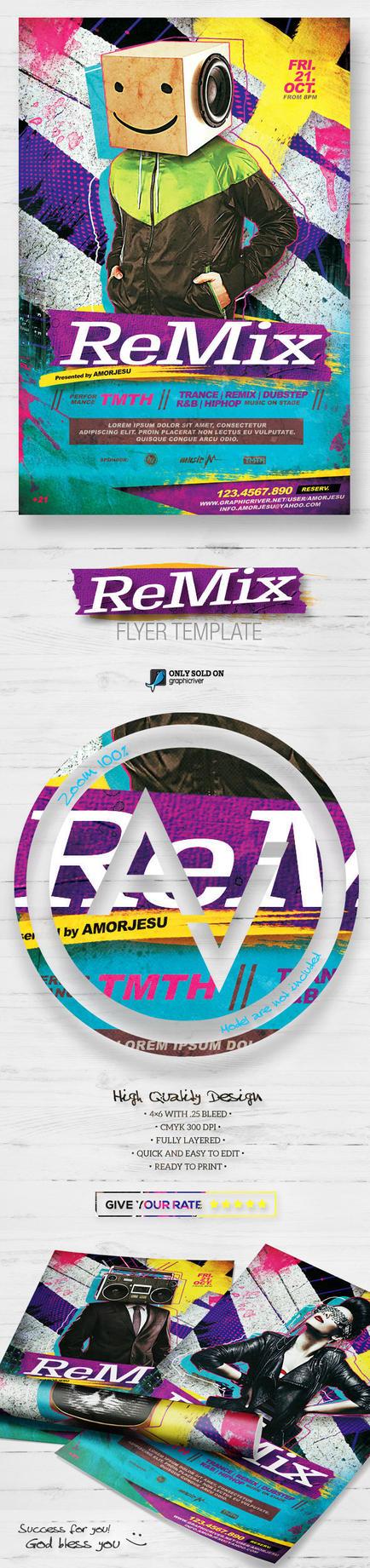 Remix Flyer Template V2 by amorjesu