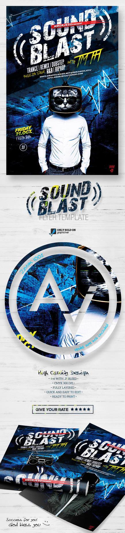 Sound Blast Flyer Template by amorjesu