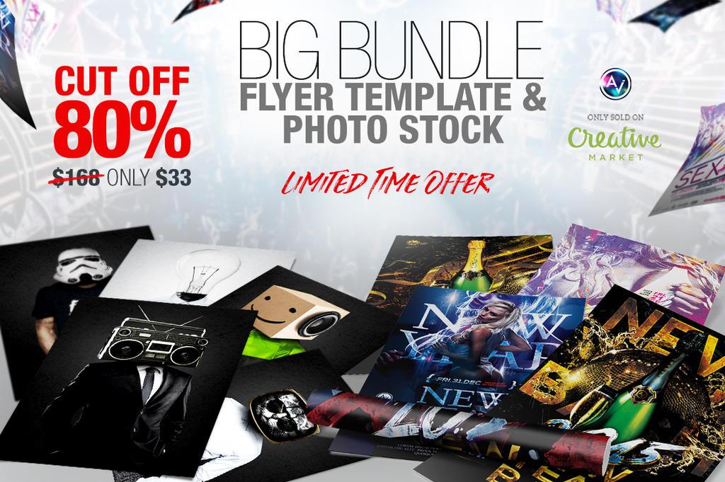 Big Bundle Flyer Template And Unique Photo Stock by amorjesu