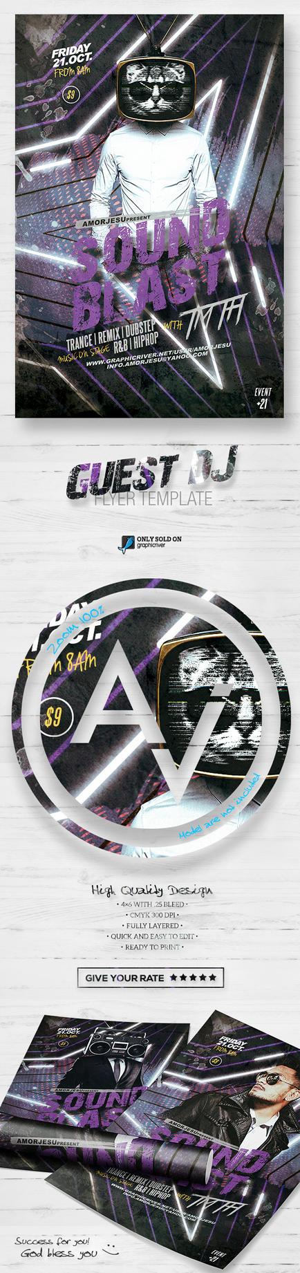 Guest DJ Flyer Template V2 by amorjesu