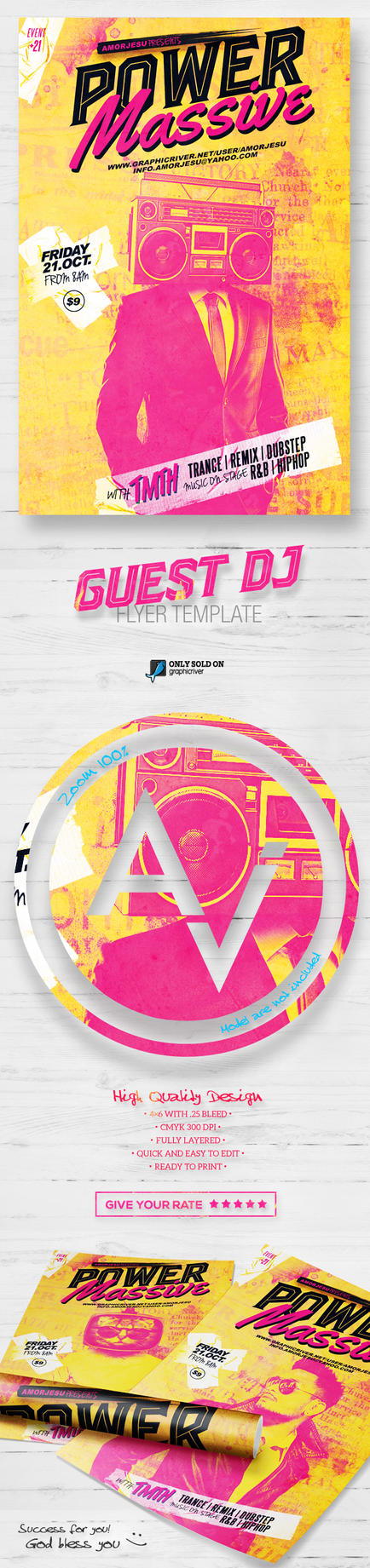 Guest DJ Flyer Template V4 by amorjesu