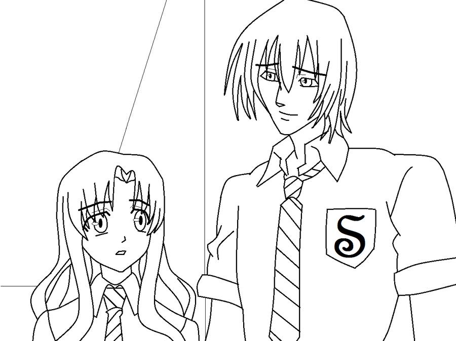 Draco-Hermione - Anime Style by KermitsGirl on DeviantArt