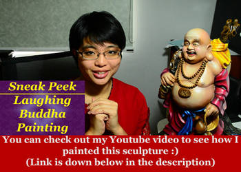 Sneak Peek: Laughing Buddha Painting by ewmh1
