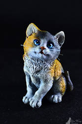 Calico Kitty Painting Sculpture