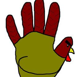 Hand Turkey by Mistuh-B