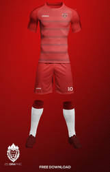 Football (Soccer) Kit Free Mockup by freemockups