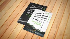 Flyer A4 2 PSD Free Mockups
