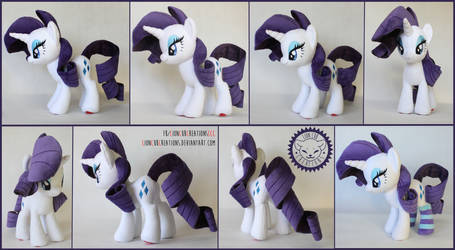 + Plush Commission 4 of 7: Rarity with socks +