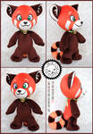 + Plush Commission #2 2021: Red Panda + by LionCubCreations