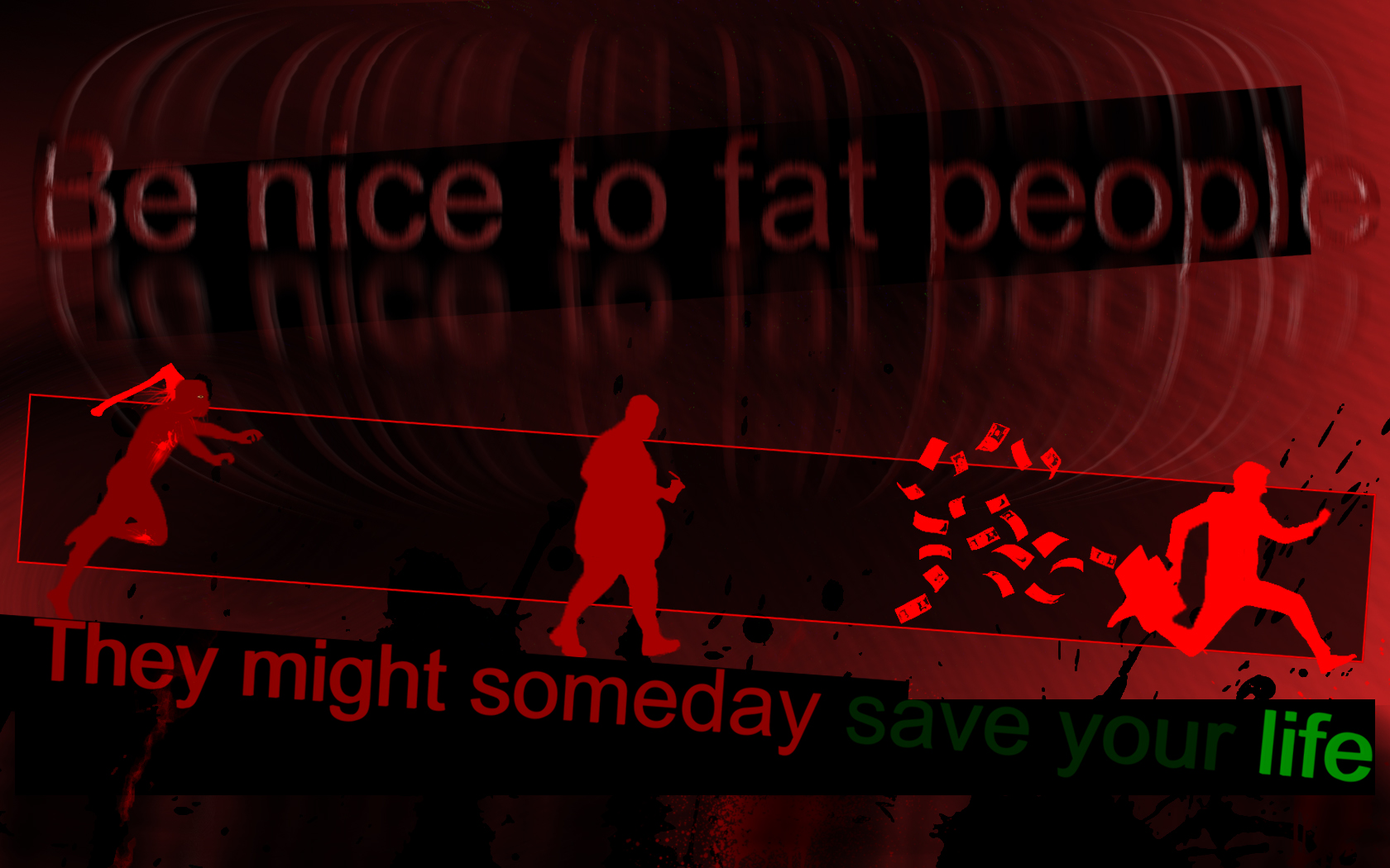 Be nice to fat People... -2 by jonnysonny