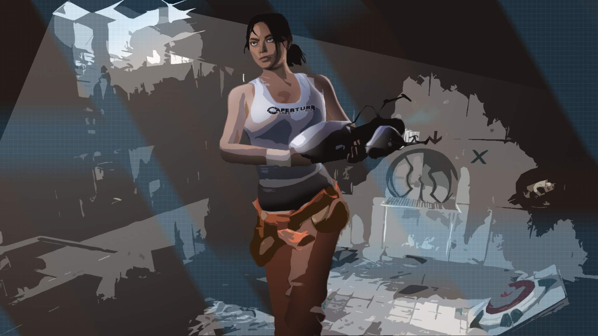 Video Games Portal 2 Chell Valve Corporation Steam