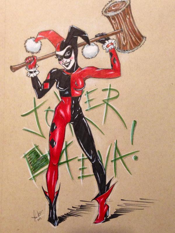 Harley Quinn- JOKER 4EVA! by LarcDEAR