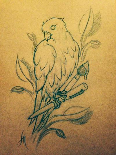 Birdy Tattoo Sketch by LarcDEAR