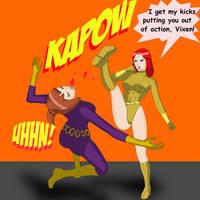 Action Girl vs Purple Vixen 3 by dangerfan