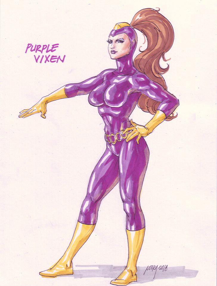 Purple Vixen In Command! by dangerfan