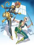 Kat Girl vs Sword Matrix