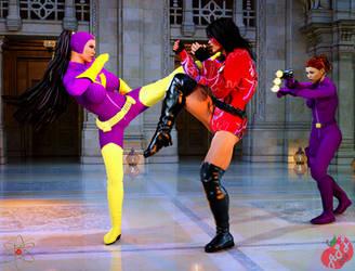 Purple Vixen vs Tyche by dangerfan