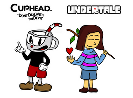 Frisk and Cuphead (Crossover)