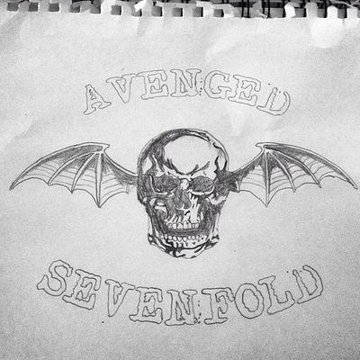 Avenged sevenfold logo drawing by msiiswicked