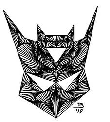 Decepticon Line Drawing by magigrapix
