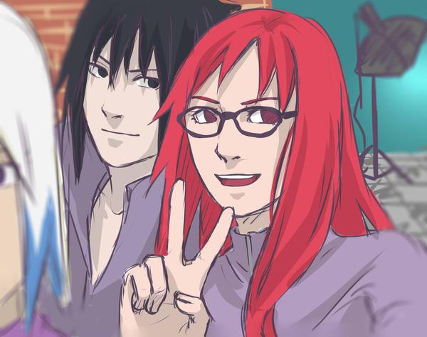 Naruto. Sasuke, Karin ...