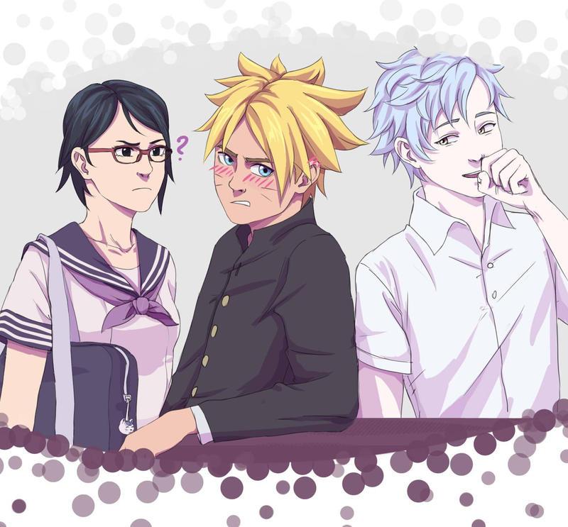 Naruto Gaiden. Boruto, Sarada, Mitsuki. By From-Miromika