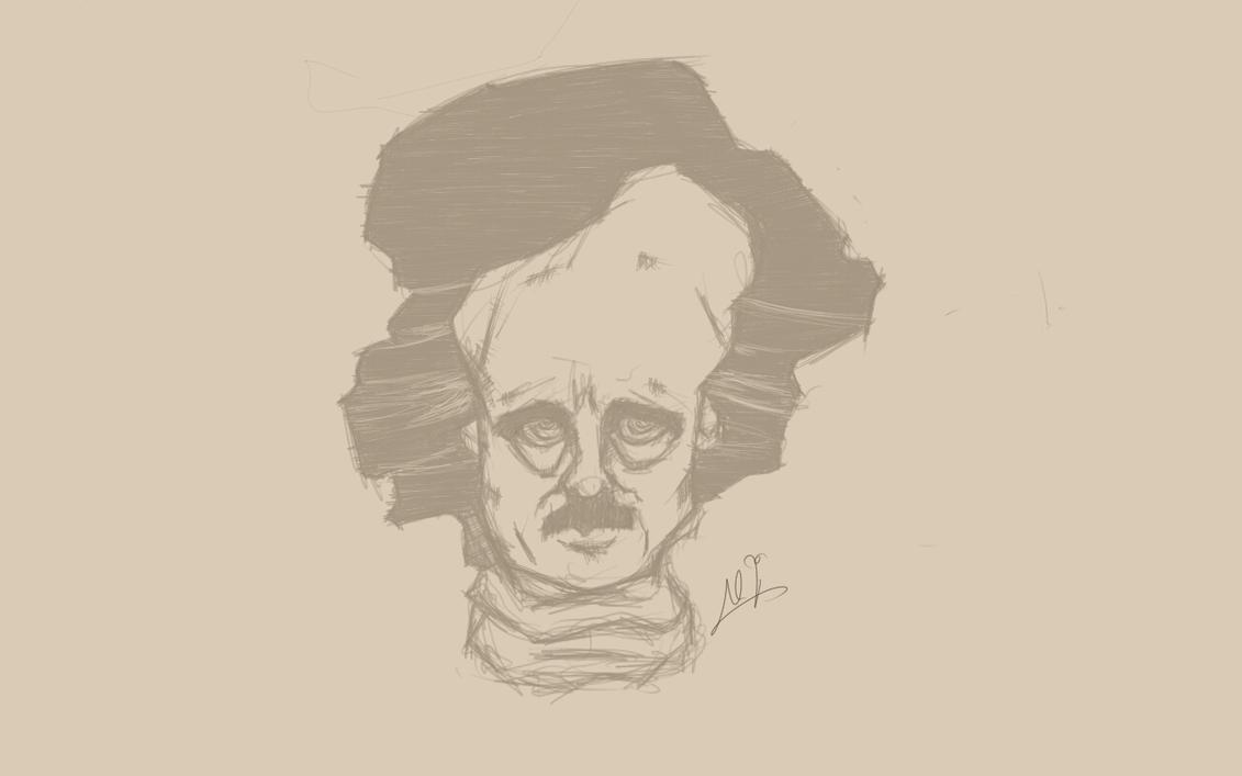 edgar allan Poe  by cromson