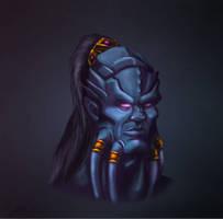 Draenei Head by Sinerus13