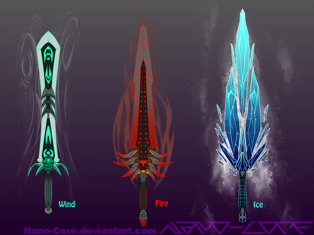 Elemental Swords Weapon Adopts Closed By Nano Core On DeviantArt