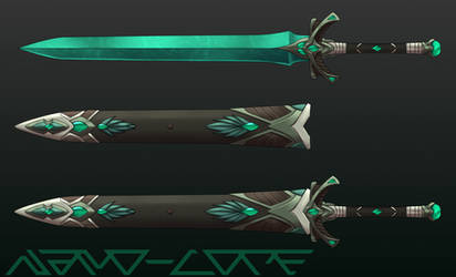 Turquoise Sword Auction Adopt (closed)