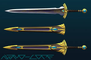 Royal Broadsword Auction Adopt (closed) by Nano-Core