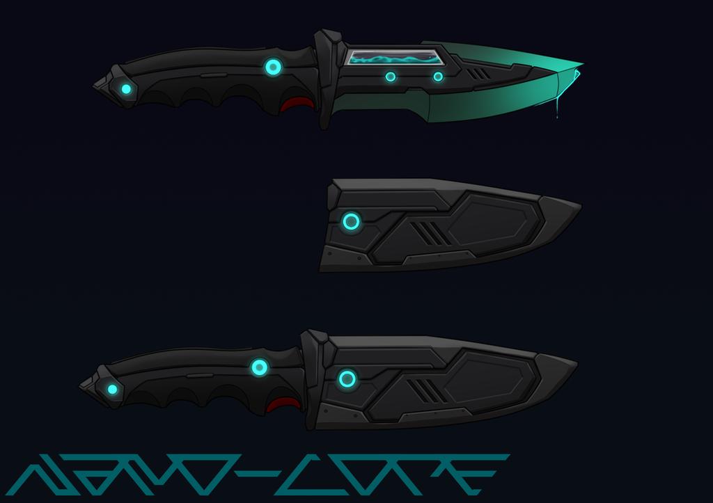 Scifi Venom Dagger Commission by Nano-Core