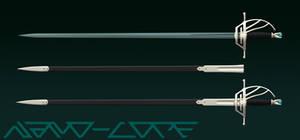 Larimar Rapier Weapon Auction Adopt (closed) by Nano-Core