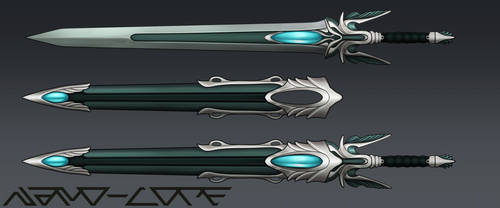 Fantasy Sword Auction Adopt (closed) by Nano-Core