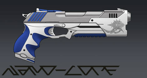 Desert Eagleish Pistol Commission by Nano-Core